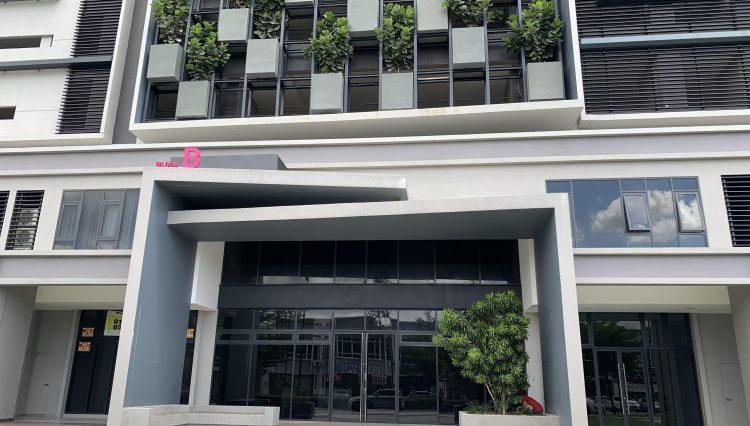 block B entrance
