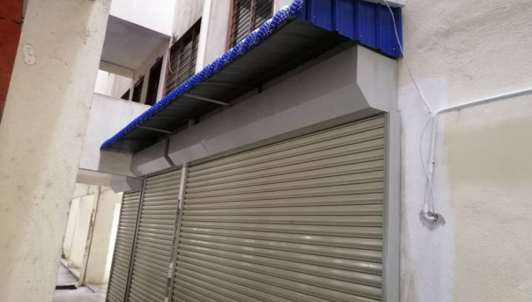 front roller shutter (ocbc 000013 ) and front awning (ocbc 000097 & 000094)